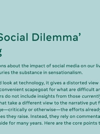 Facebook Social dilemma